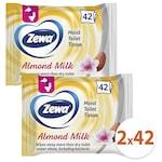 Zewa Almond Milk nedves toalettpapír, 2x42 db