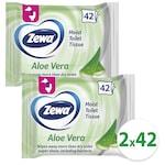 Zewa Aloe Vera nedves toalettpapír, 2x42 db