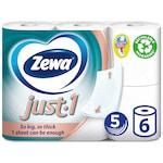 Zewa Just1 5 rétegű toalettpapír, 6 tekercs