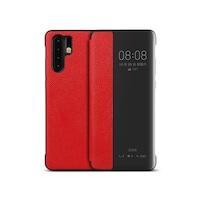 Калъф тефтер Case-M от ест. кожа за Huawei P30 Pro, Червен