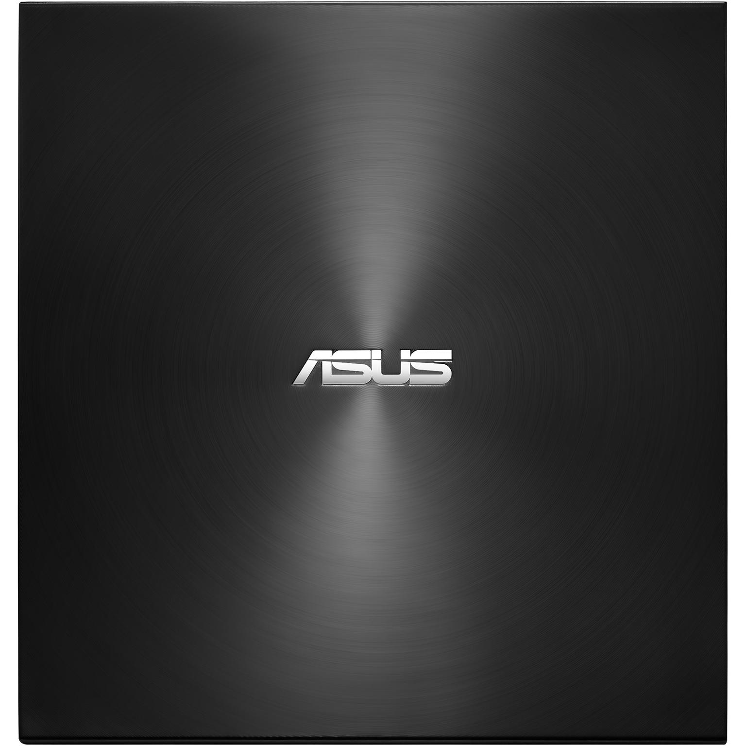 Fotografie DVD writer extern ASUS ZenDrive U7M, 8X, ultra-subtire 13.9mm , include 2 discuri DVD M-DISC de 4.7GB, compatibil cu Windows si Mac OS, ASUS Webstorage gratuit 12 luni, Nero BackItUp, E-Green, Negru