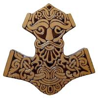 Aplica de perete Mjolnir, Artizanat Ilsaf, Ciocanul zeului scandinav Thor, 30x29x2.5 cm