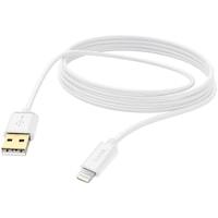 Hama Adat/töltő kábel, lightning, 3m, Fehér