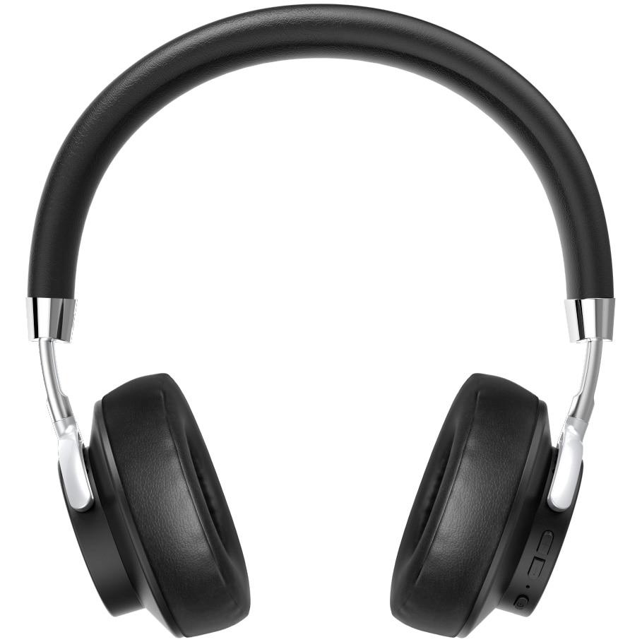 Fotografie Casti Bluetooth Hama Voice, On-Ear, voice control, Negru/Argint