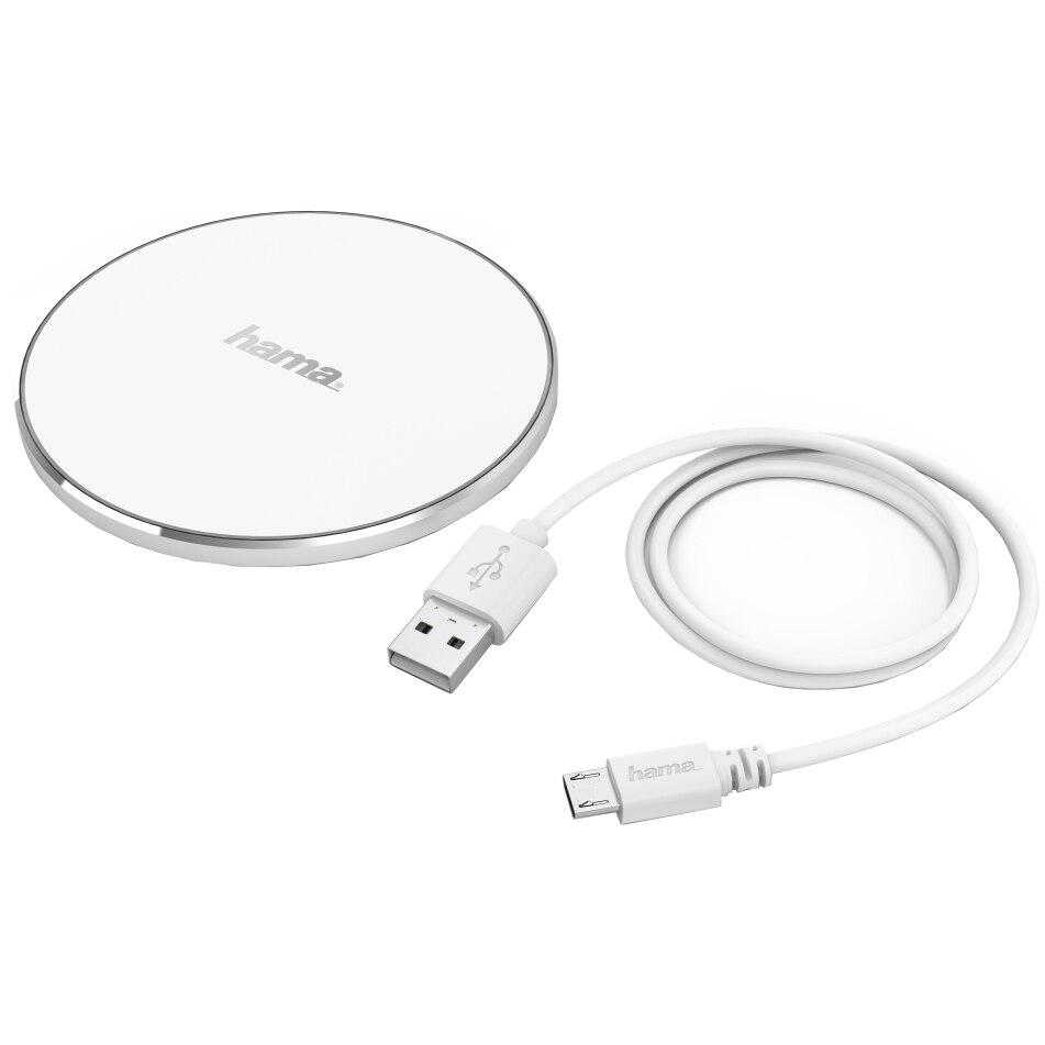 Fotografie Incarcator Wireless Hama FC5 Alu, Alb