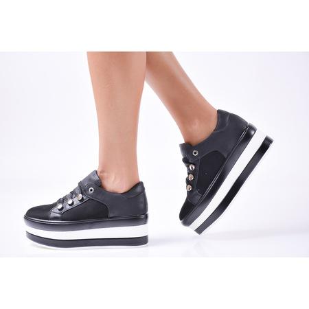 Дамски обувки на платформа eExclusive 500-6097, Черен, 40 EU