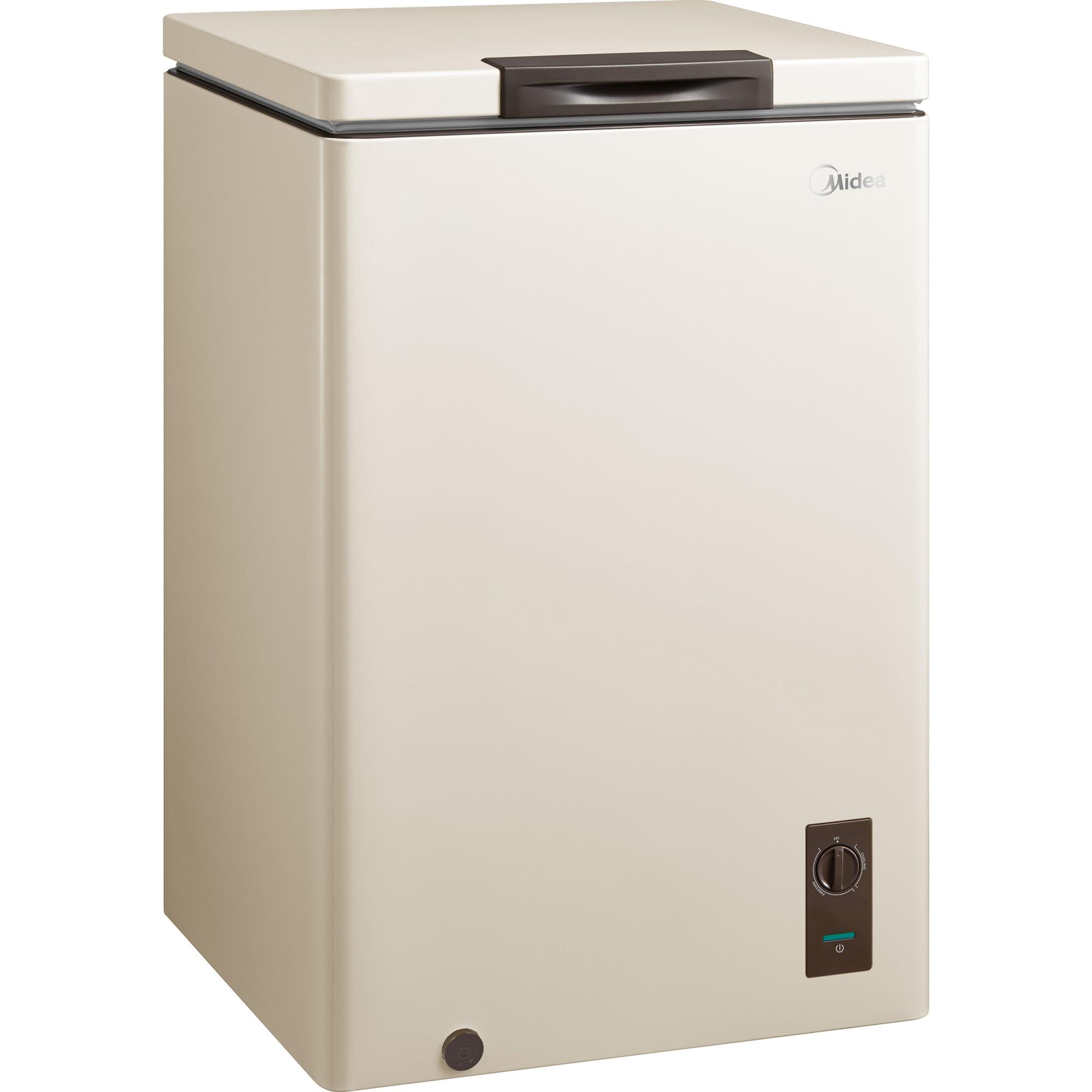 Fotografie Lada frigorifica MIDEA HS-131CNB, 99l, Functie frigider, LED, Clasa A+, Bej