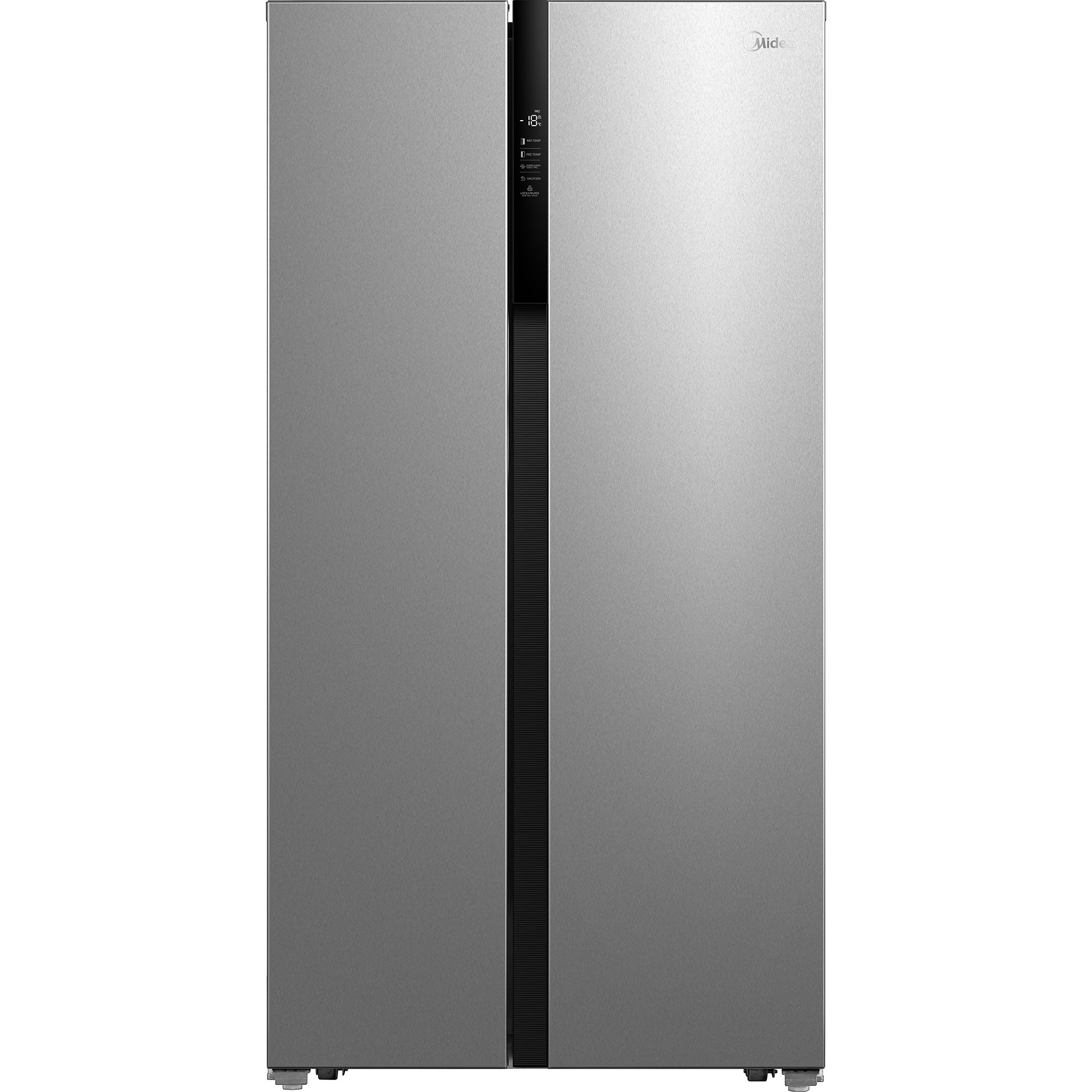 Fotografie Side by Side Midea HC-832WEN, 605l, Clasa A++, Display, Compressor Inverter, Total No Frost, H 180.5cm, Inox