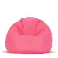 Пуф Topcho Ябълка промазан плат,розов,свалящ се калъф, пълнеж от полистиренови перли