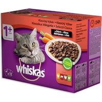 Мокра храна за котки Whiskas Multipack Selections, Месо & Зеленчуци, 12 x 100 гр