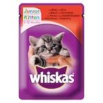 Whiskas Junior Nedves macskaeledel, Marha, 100g