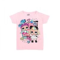 LOL Surprise mintás lányka rövid ujjú póló 10 év - 140 rózsaszín