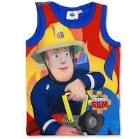 Fireman Sam, Tűzoltó Sam mintás fiú ujjatlan trikó (Méret: 122)