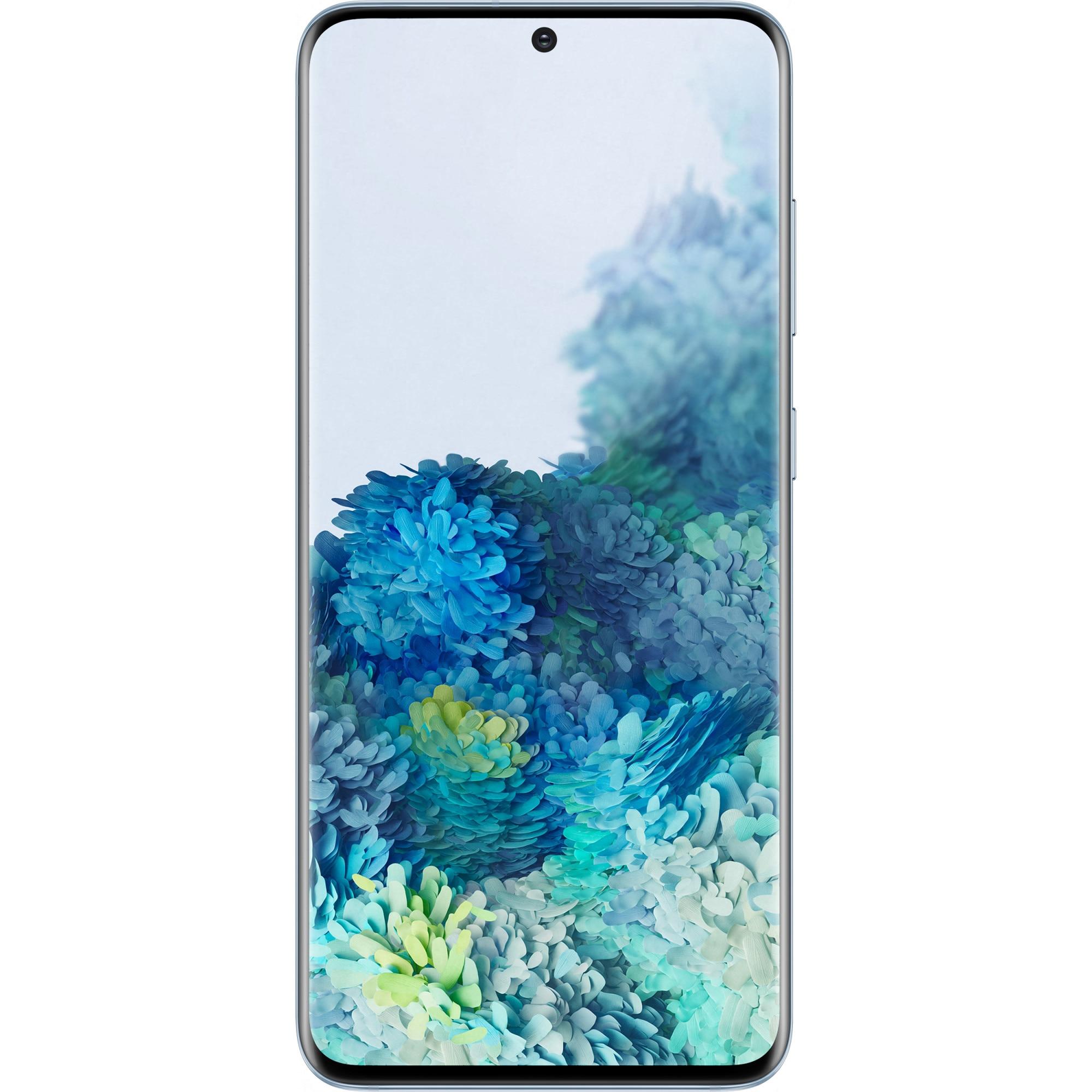 Fotografie Telefon mobil Samsung Galaxy S20, Dual SIM, 128GB, 12GB RAM, 5G, Cloud Blue