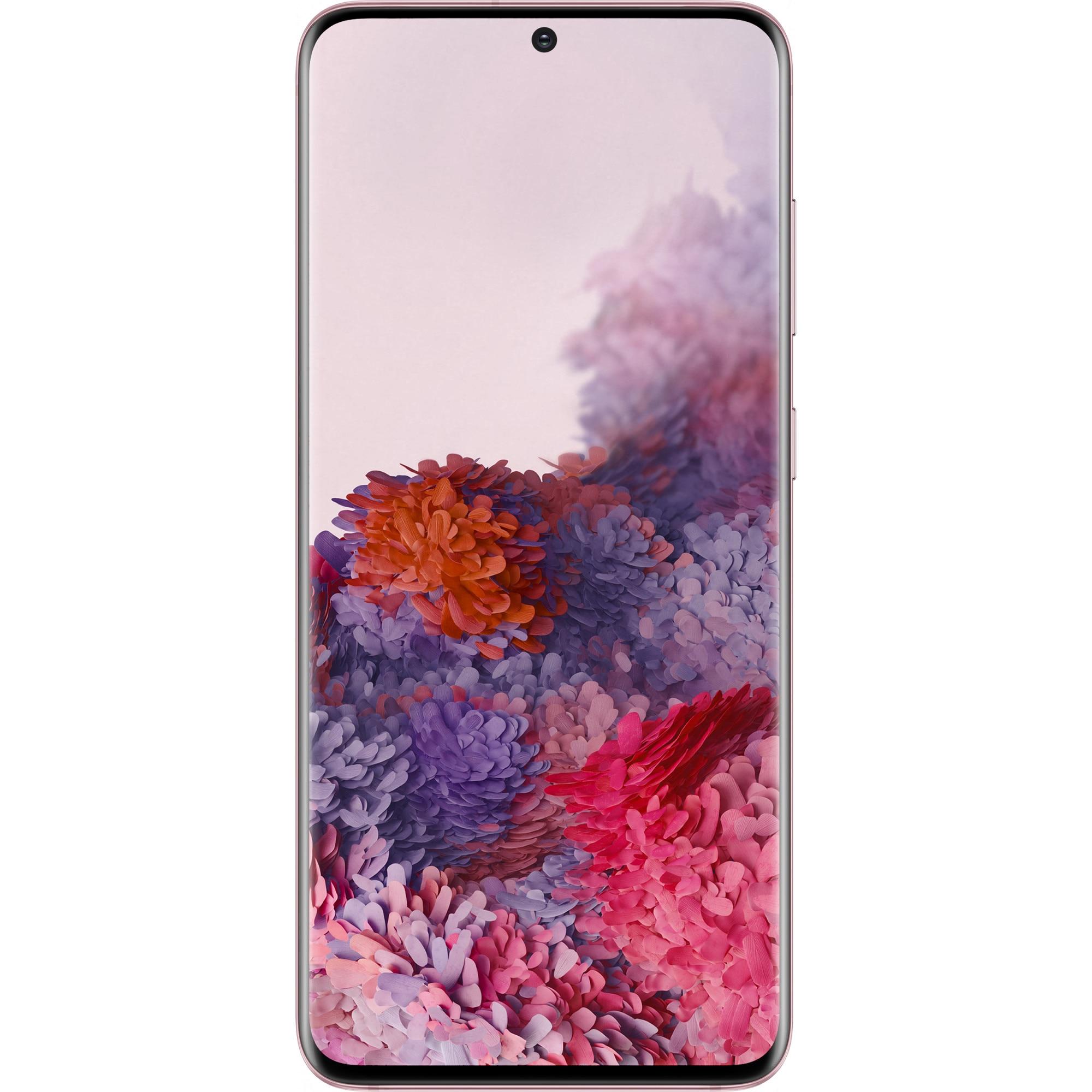 Fotografie Telefon mobil Samsung Galaxy S20, Dual SIM, 128GB, 12GB RAM, 5G, Cloud Pink