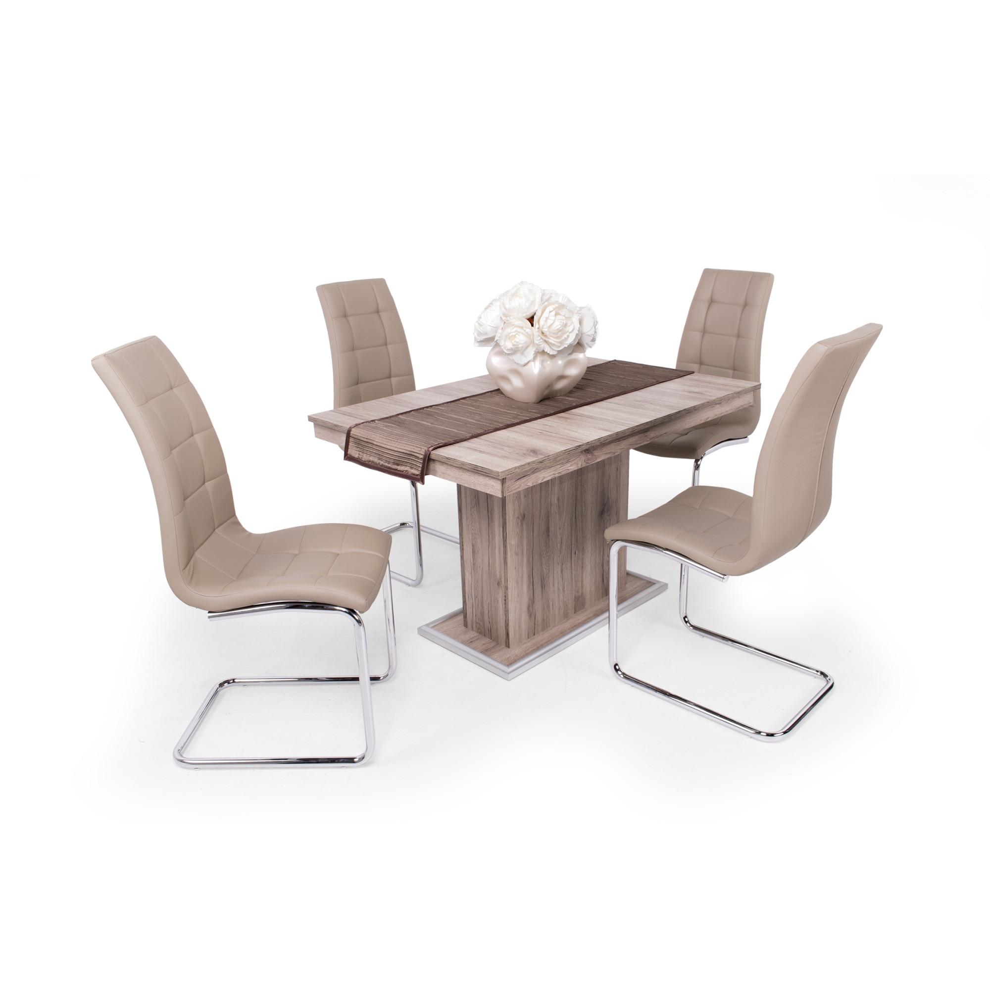 Emma étkezőgarnitúra Flóra asztallal 4 személyes