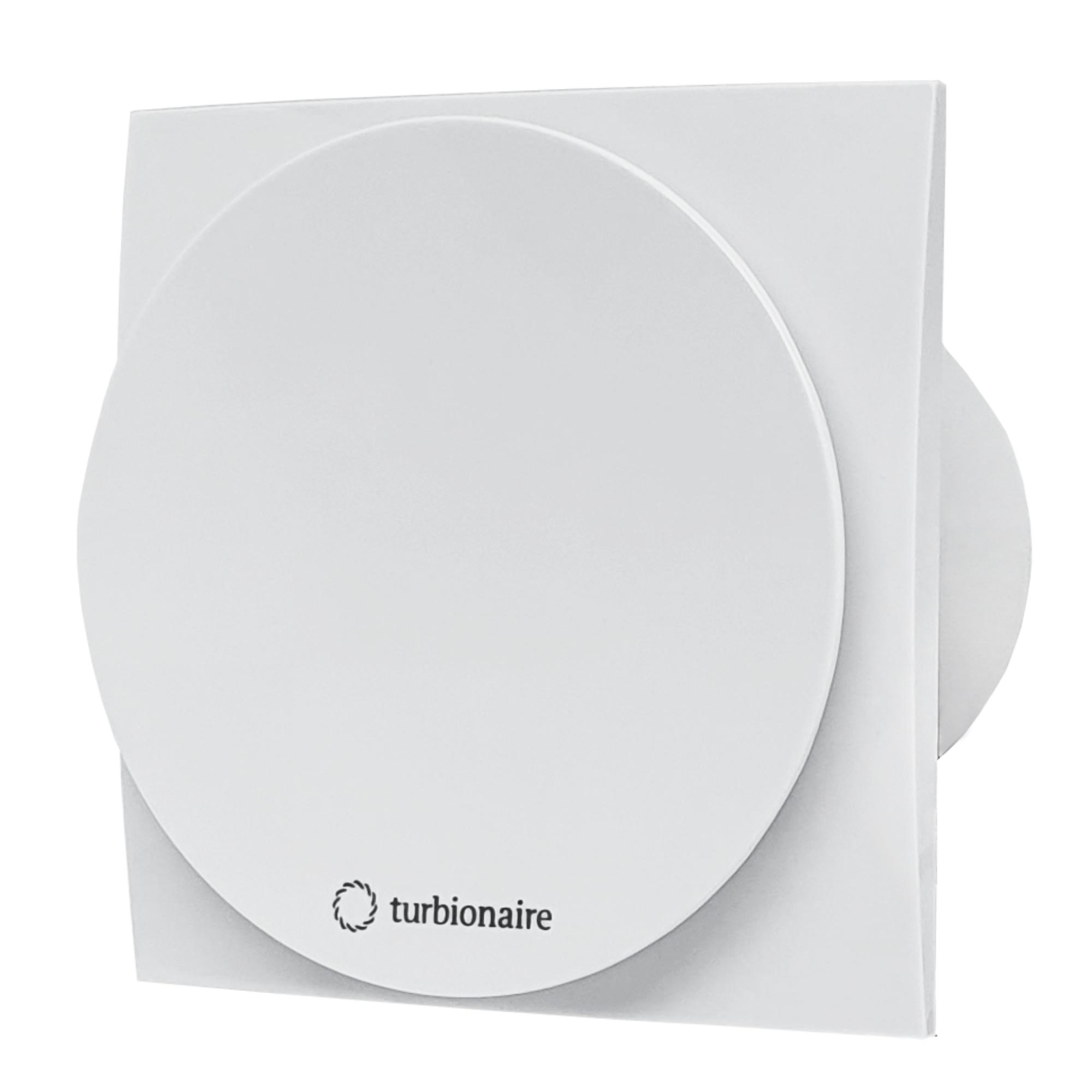 Fotografie Ventilator baie Turbionaire MIO 100 LL-SW, clapeta antiretur, motor Long Life, IPX4, 100 mm, Alb