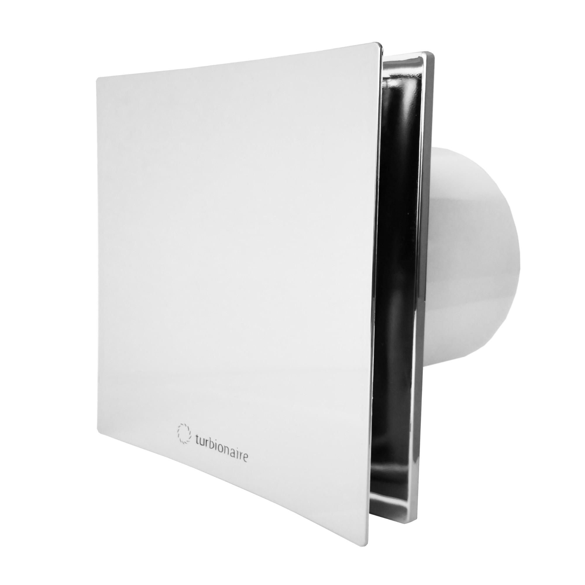 Fotografie Ventilator baie Turbionaire ARTE 100 SC, clapeta antiretur, aspiratie perimetrala, IPX4, 100 mm, Crom