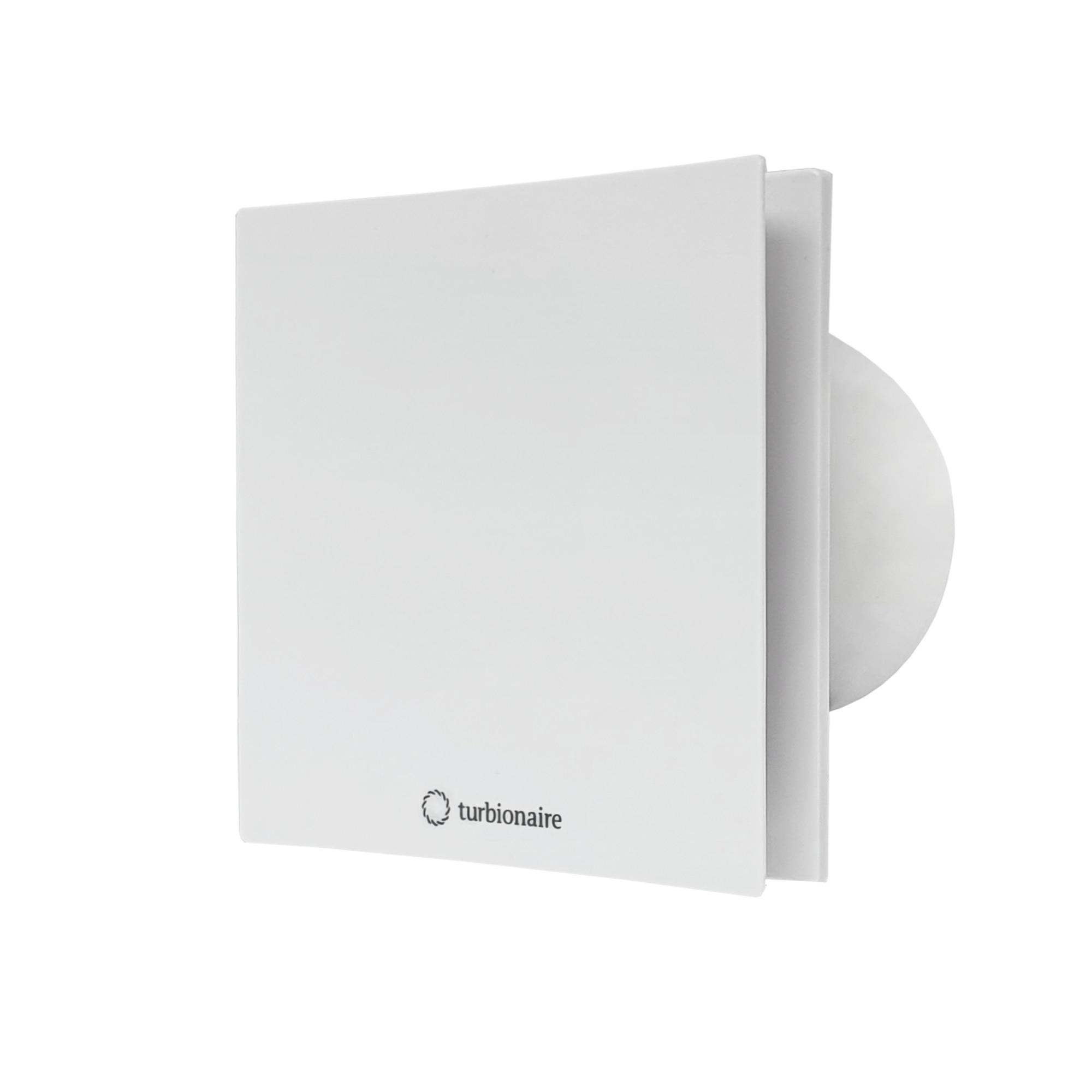 Fotografie Ventilator baie Turbionaire ARTE 100 SW, clapeta antiretur, aspiratie perimetrala, IPX4, 100 mm, Alb