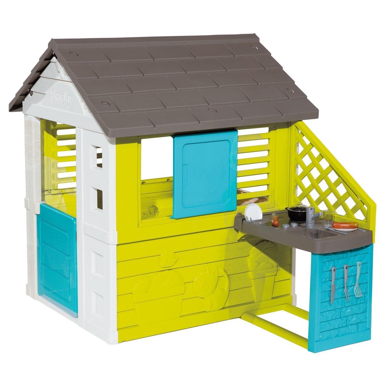 Fotografie Casuta pentru copii Smoby - Pretty playhouse, cu bucatarie