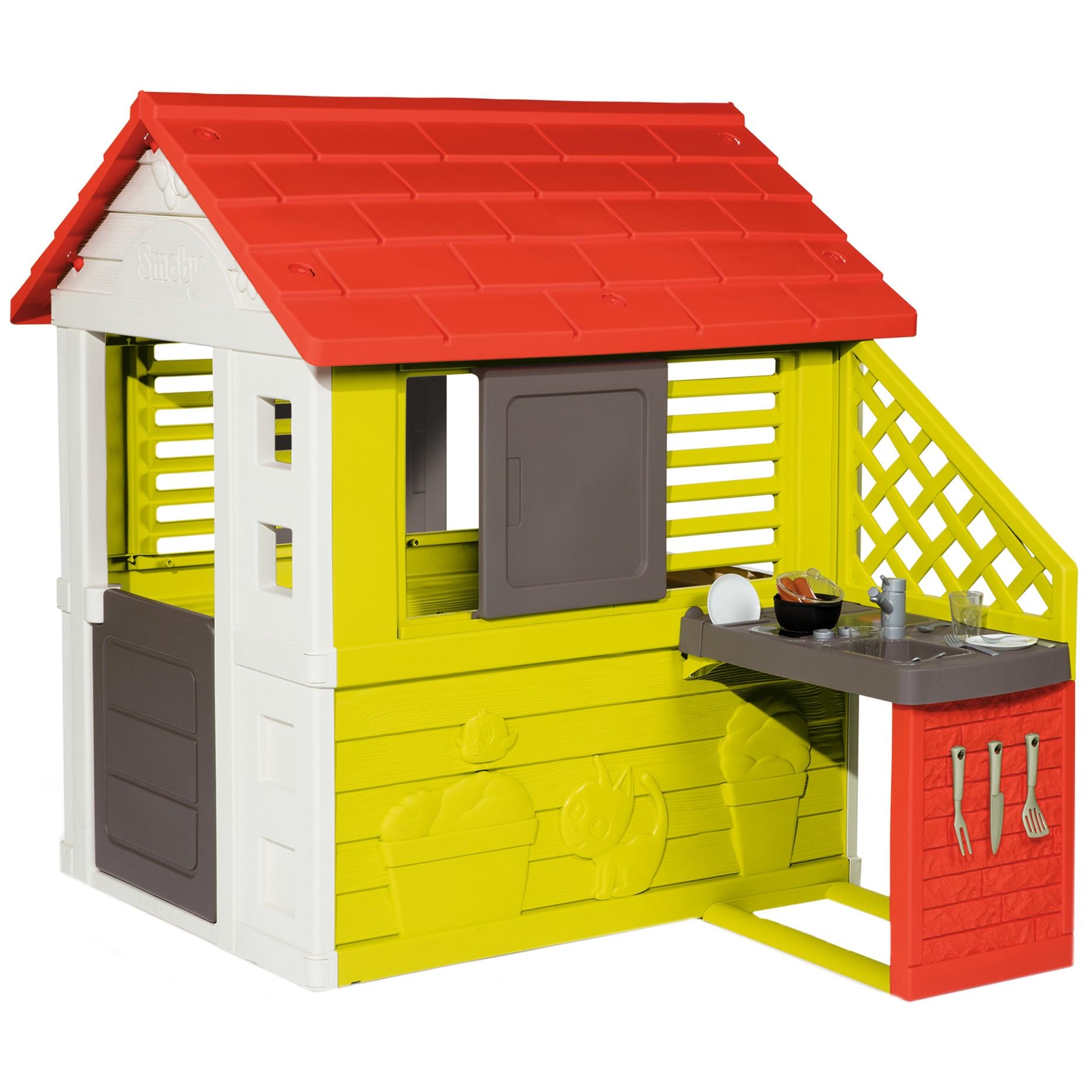 Fotografie Casuta pentru copii Smoby - Nature playhouse, cu bucatarie