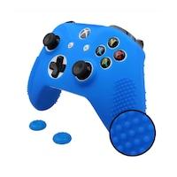 XBOX ONE sorozat - kontrollerhez szilikon borítás - Extra - joystick gombbal - kék