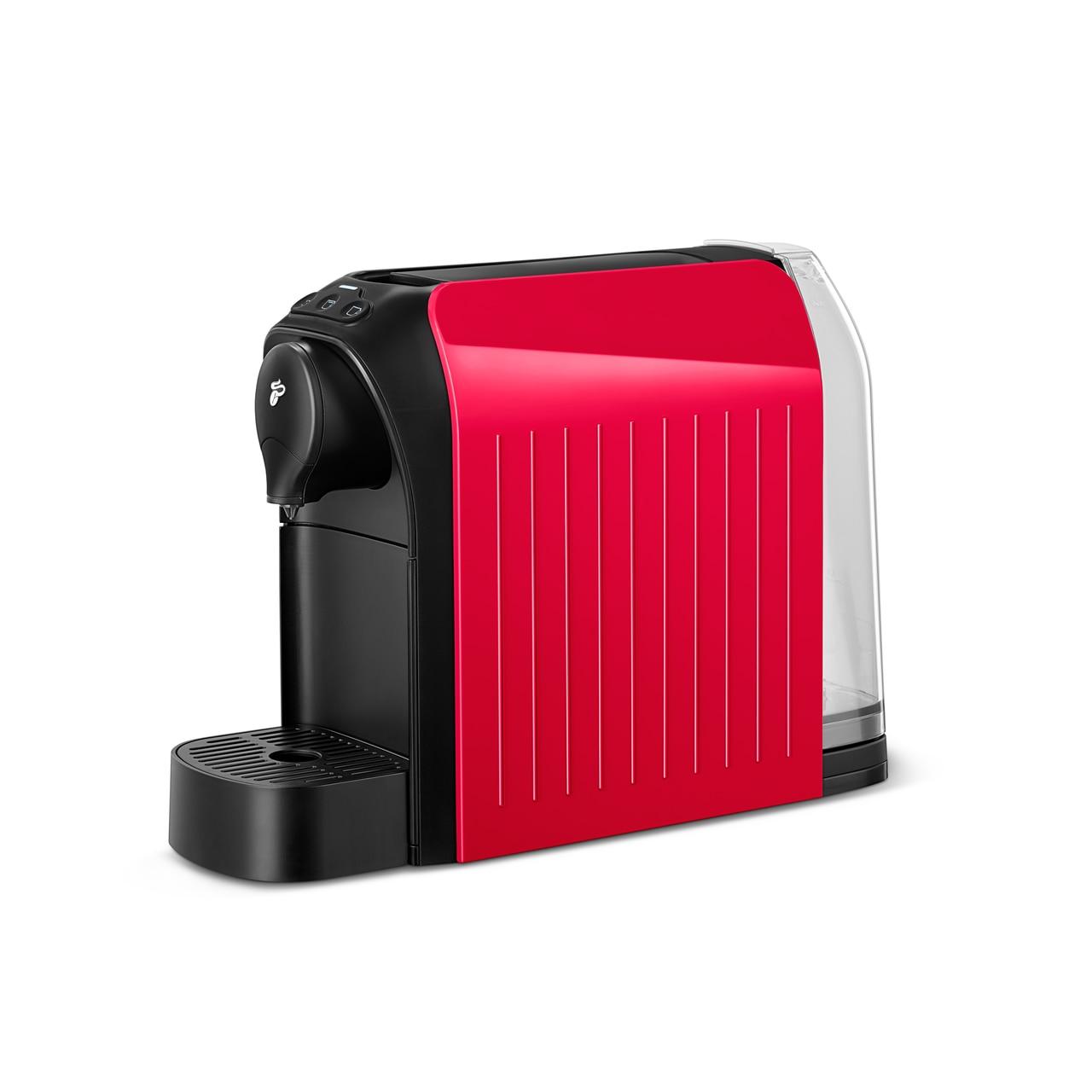 Fotografie Espressor Tchibo Cafissimo easy Red, 1250 W, 3 presiuni, 650 ml, Espresso, Caffe Crema, sertar capsule, Rosu