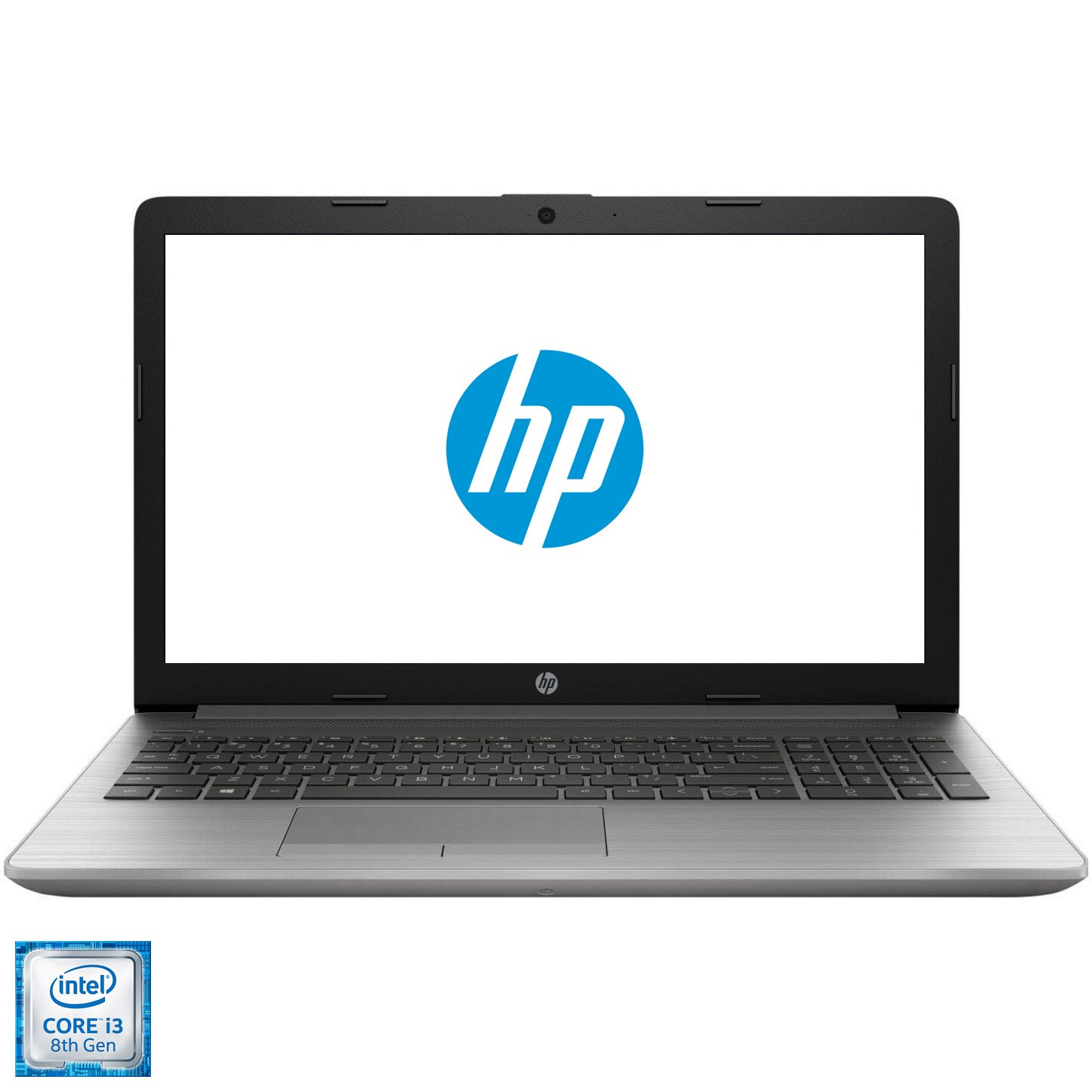 "Fotografie Laptop HP 250 G7 cu procesor Intel(r) Core(tm) i3-8130U pana la 3.40 GHz Kaby Lake, 15.6"", Full HD, 4GB, 1TB HDD, DVD-RW, Intel UHD Graphics, Free DOS, Silver"