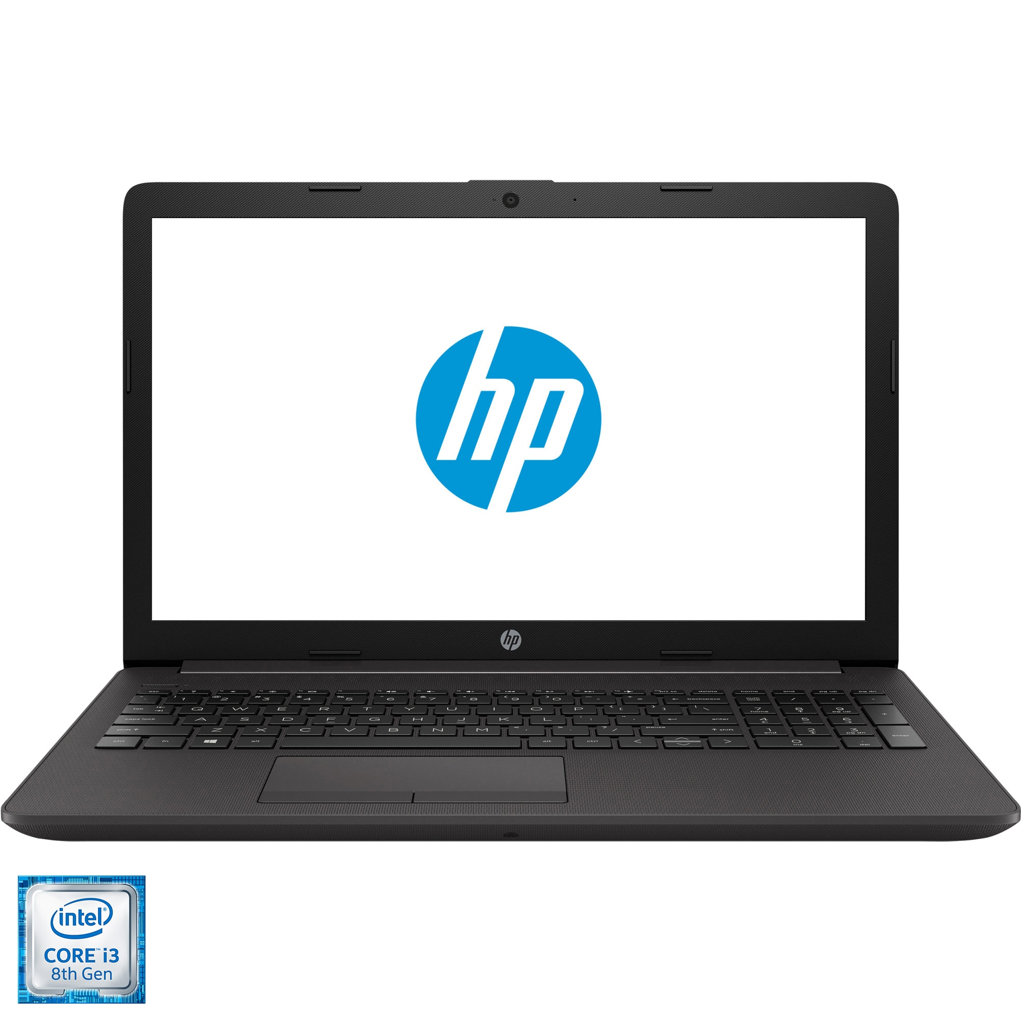 "Fotografie Laptop HP 250 G7 cu procesor Intel® Core™ i3-8130U pana la 3.40 GHz, 15.6"", Full HD, 8GB, 256GB SSD, NVIDIA® GeForce® MX110 2GB, Free DOS, Dark ash silver"