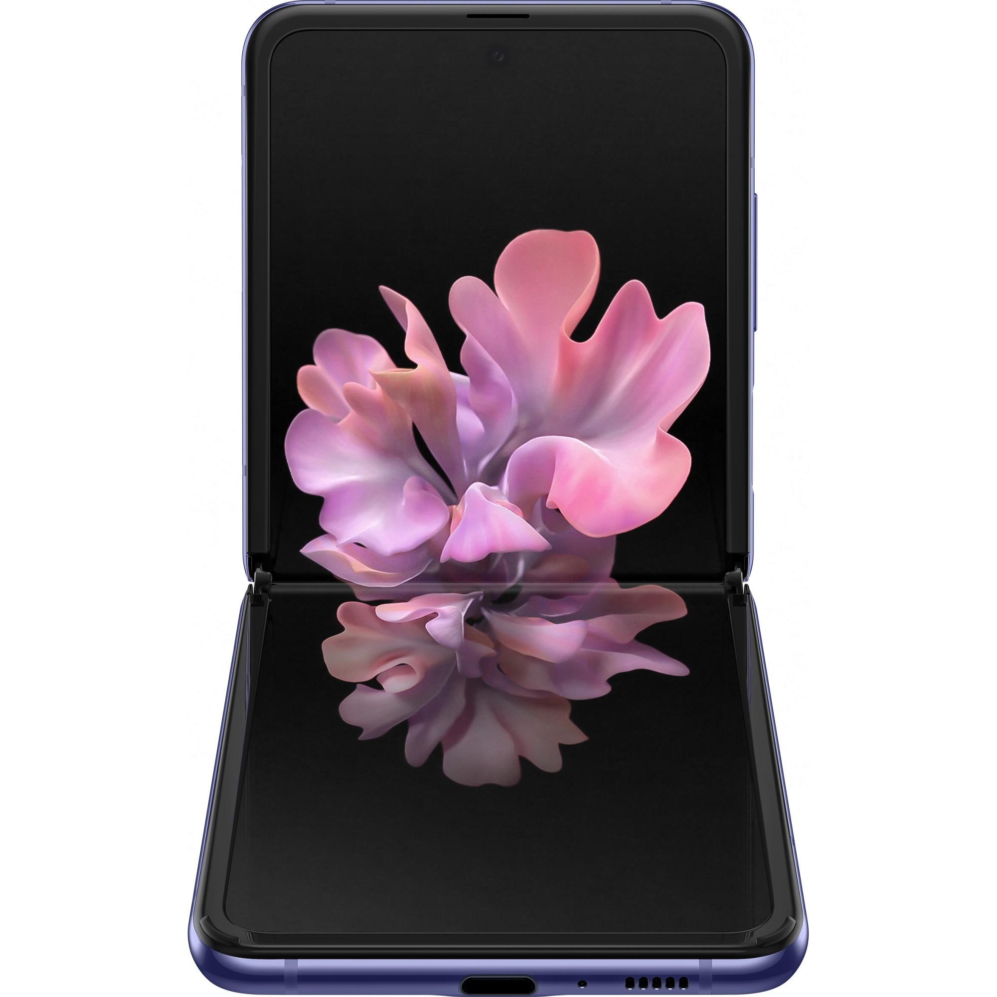 Fotografie Telefon mobil Samsung Galaxy Z Flip, Dual SIM, 256GB, 8GB RAM, Mirror Purple