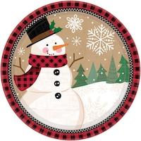 Snowman, Hóember Papírtányér 8 db-os 17,7 cm DPA541679