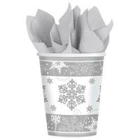 Snowflake, Hópehely papír pohár 8 db-os 266 ml DPA581559