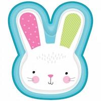 Rabbit, Nyuszi Süteményes Papírtányér 8 db-os 26,6 cm DPA430822