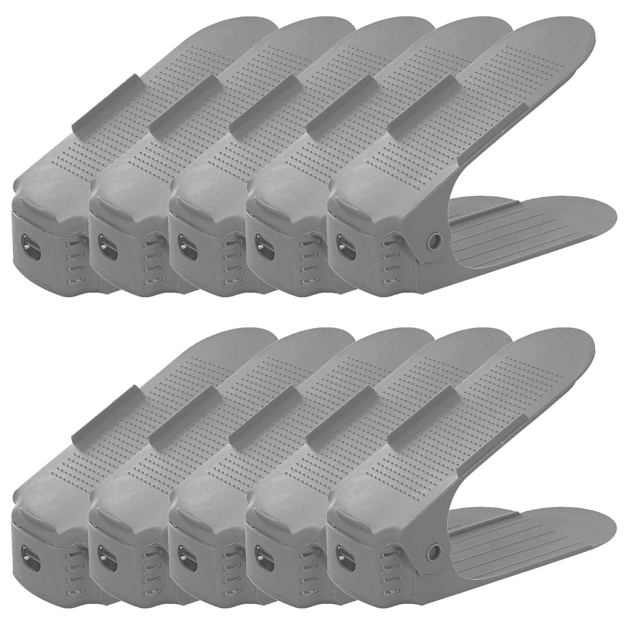 Fotografie Organizator pantofi Kring Organizer, 3 niveluri de reglare pe inaltime, suport incaltaminte, Gri inchis