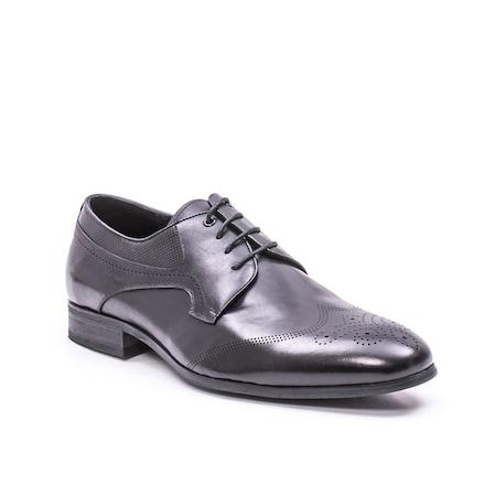 Pantofi eleganti piele naturala QRF 335621 negru 45 EU