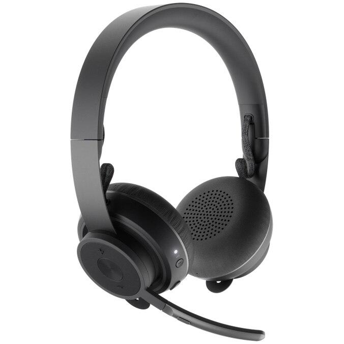 Fotografie Casti Logitech Zone Wireless Plus, USB + Bluetooth, ANC, incarcare wireless Qi
