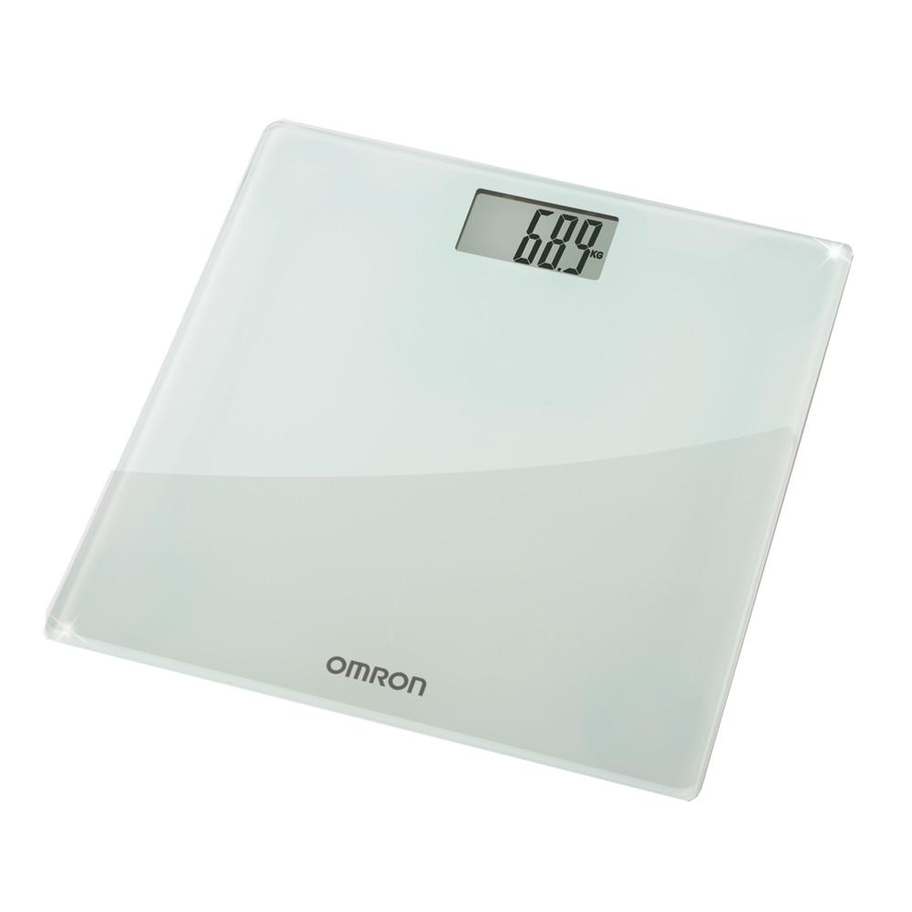 Fotografie Cantar super slim Omron HN-286-E, 180 kg, Sticla securizata, Display LCD, Gri