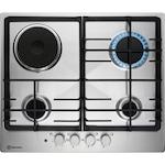 Плот за вграждане Electrolux KGM64311X, Смесено захранване, 3 газови нагревателни зони/1 електрическа нагревателна зона, Електрическо запалване, Защита за безопасност, 60 см, Inox