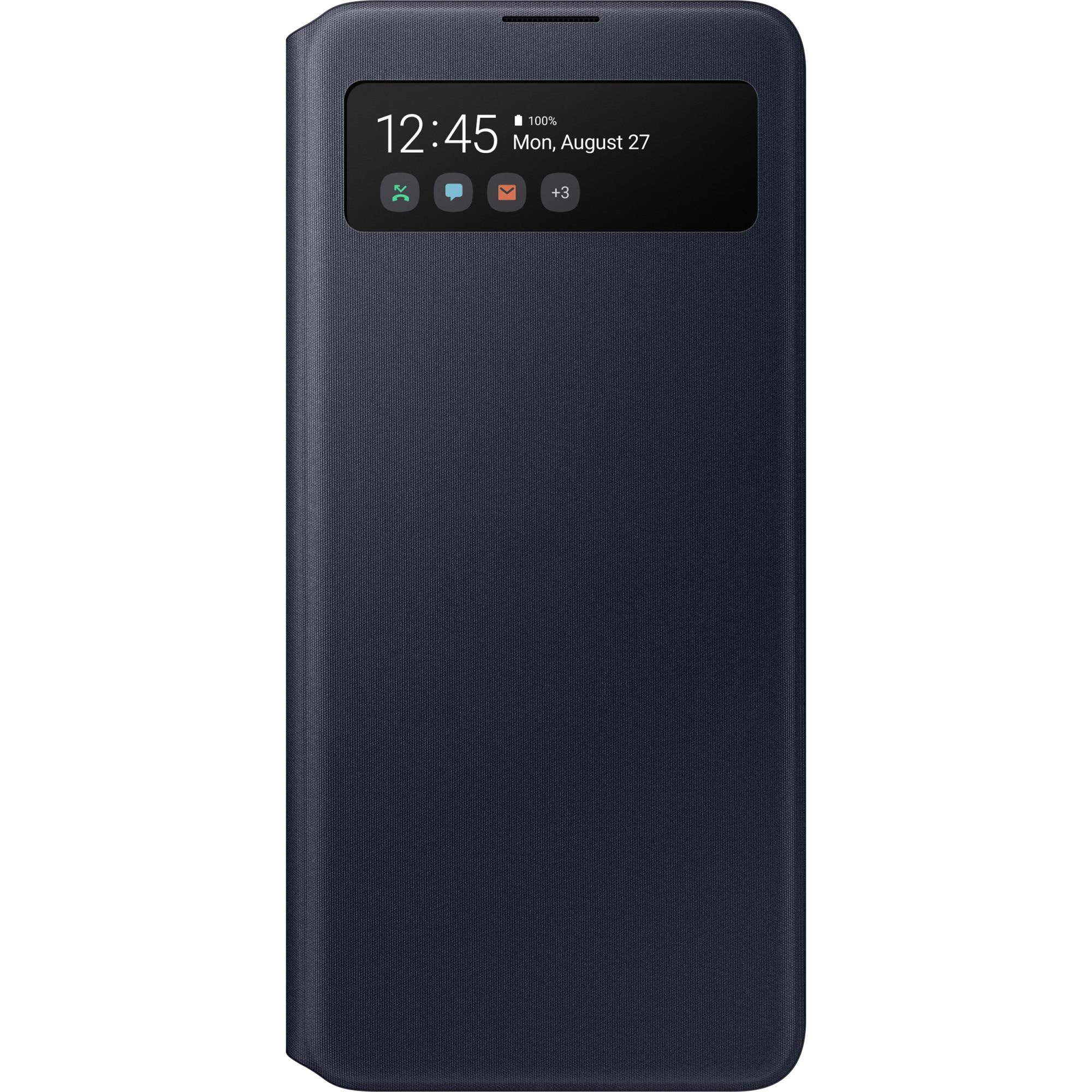 Fotografie Husa de protectie Samsung S View Wallet Cover pentru Galaxy A51, Black