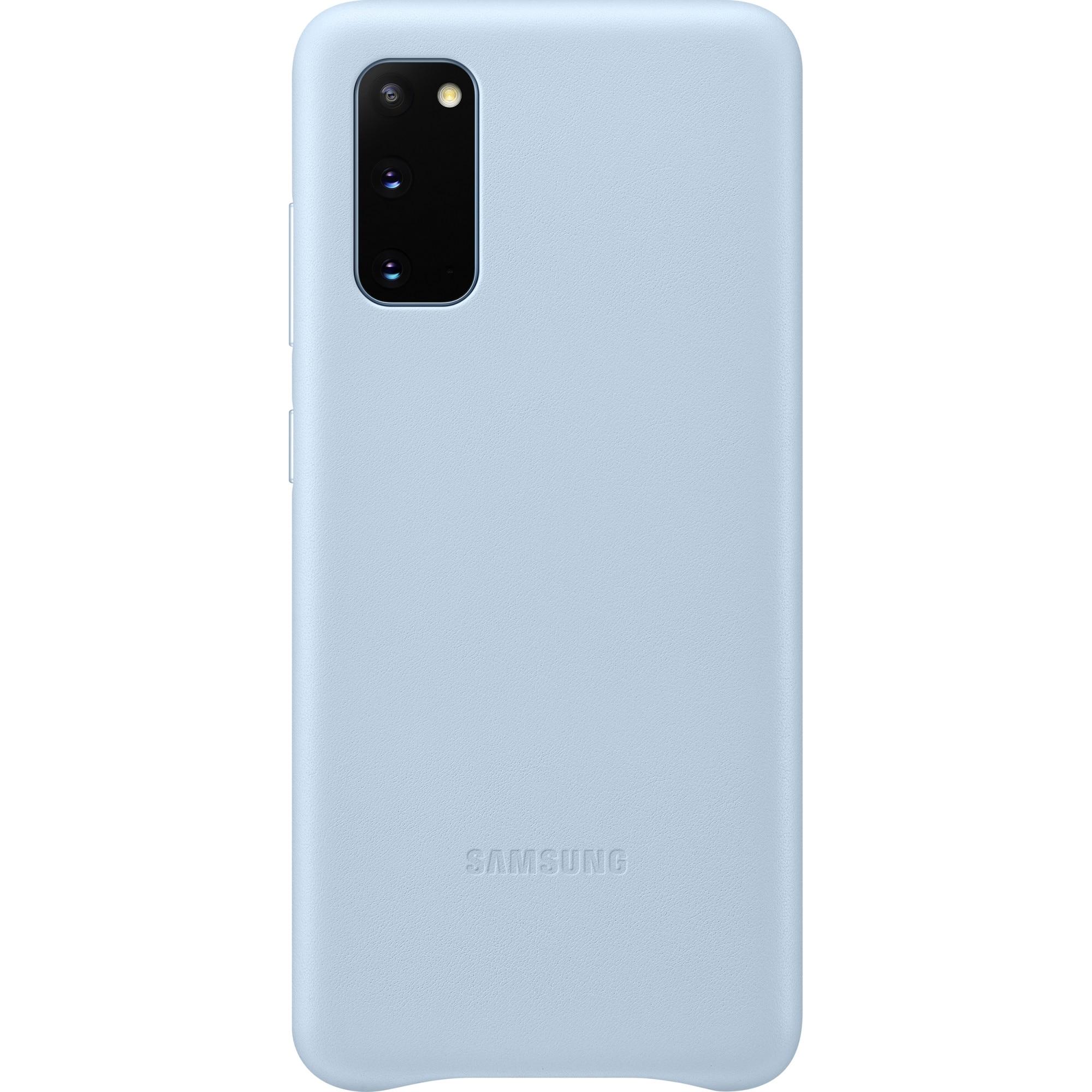 Fotografie Husa de protectie Samsung Leather Cover pentru Galaxy S20, Sky Blue