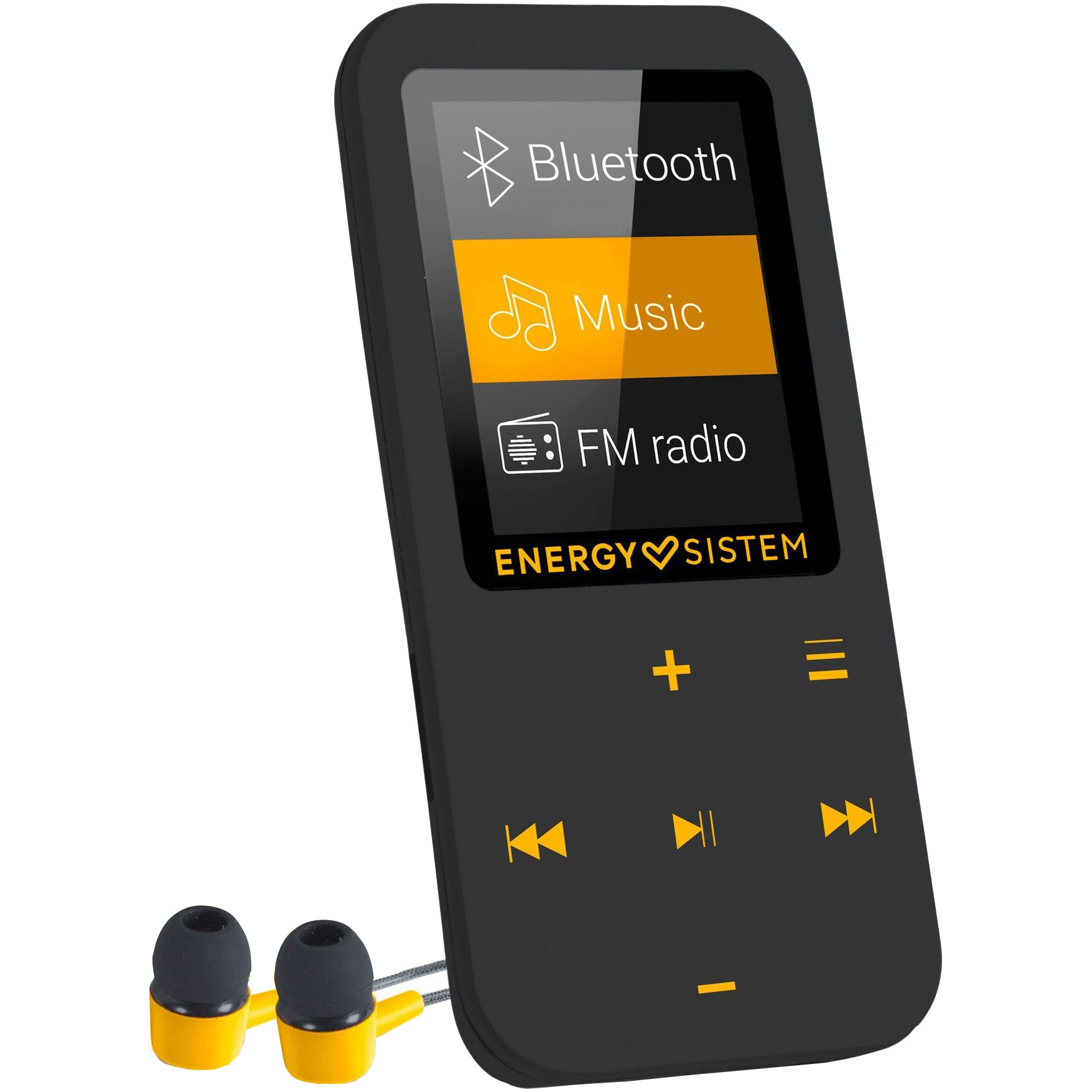 Fotografie Player Mp4 Energy Sistem, S447220, Bluetooth, 16 GB, FM, Touch, Amber