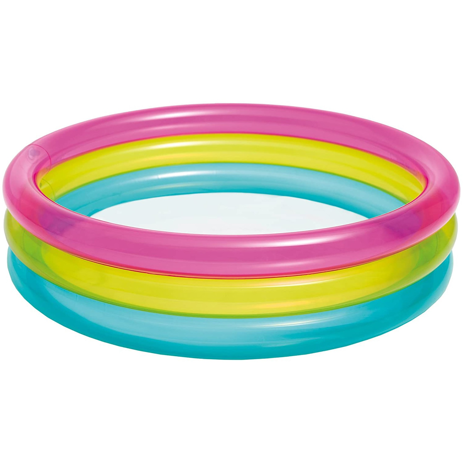 Fotografie Piscina gonflabila Intex - Rainbow baby pool, cu 3 inele, 86 x 25 cm