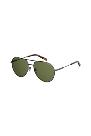 Polaroid, Унисекс слънчеви очила стил Aviator, Сребрист, 61-17-145 Standard