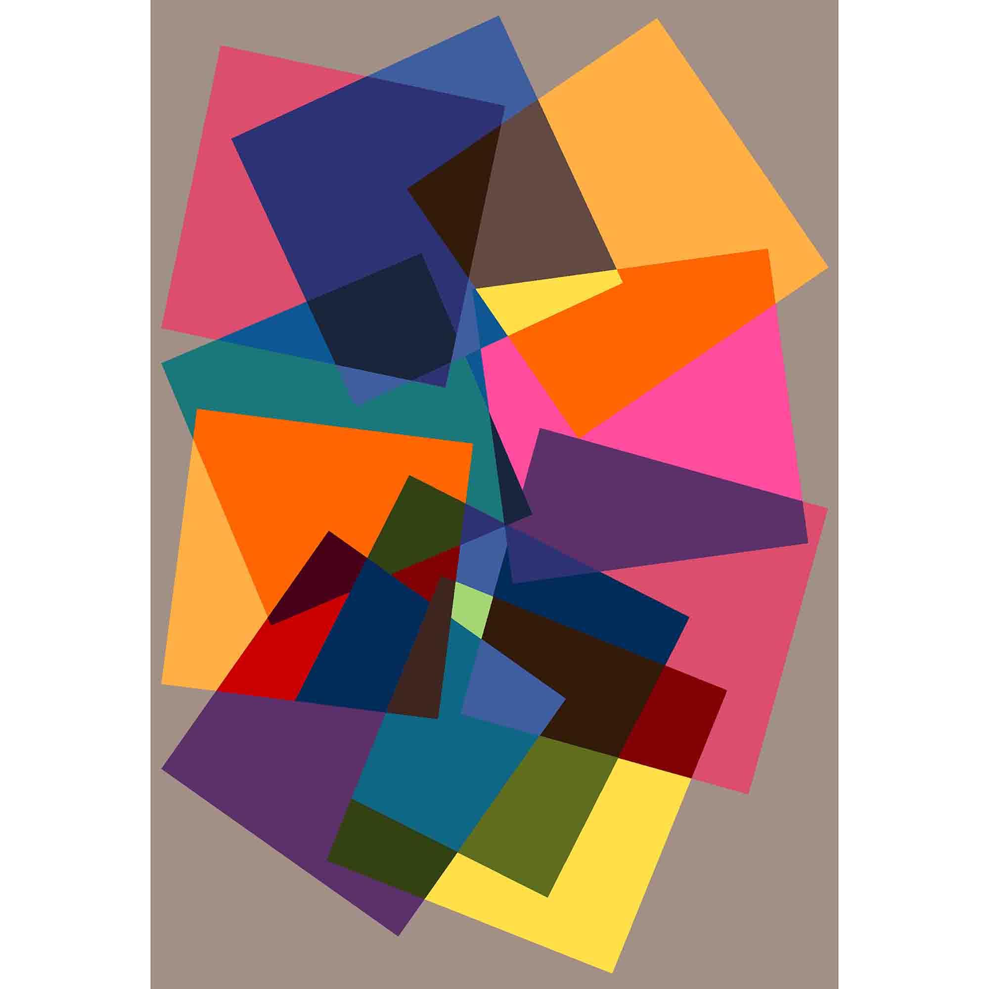 Fotografie Covor cu print digital Kring Sansa, 160x230 cm, 60% bumbac + 40% poliester, Multicolor