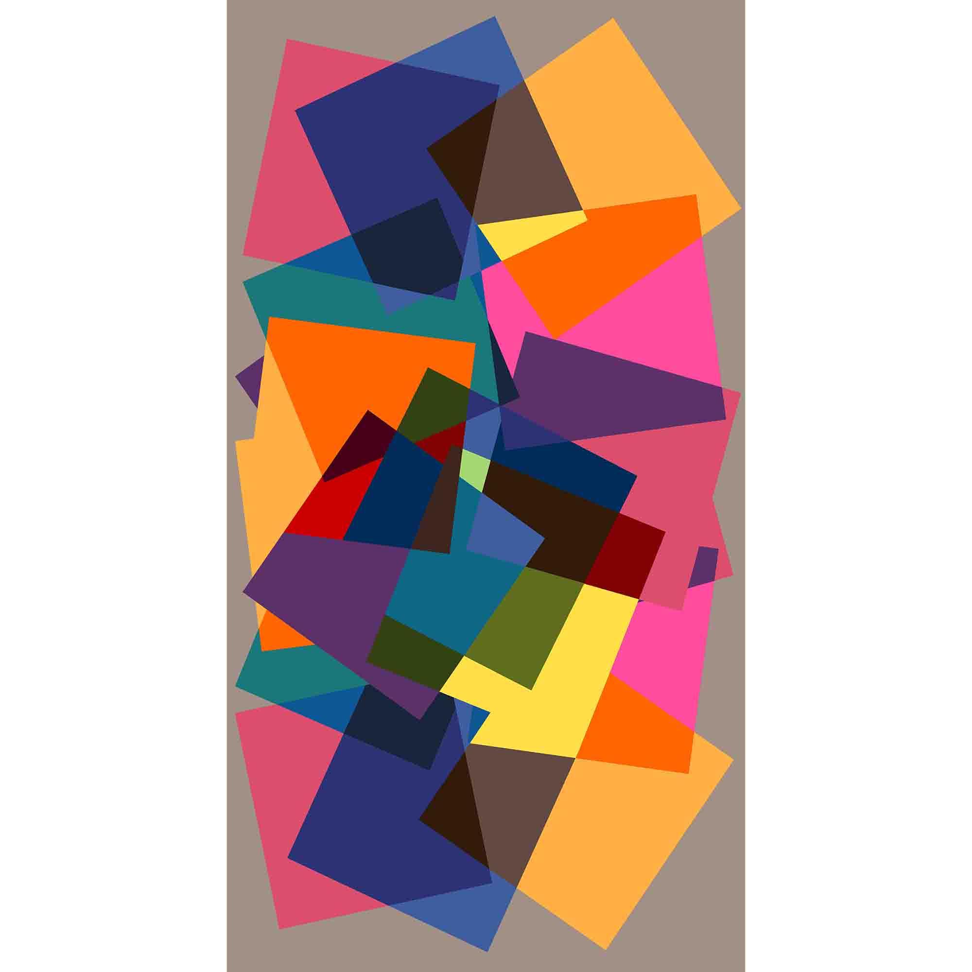 Fotografie Covor cu print digital Kring Sansa, 80x150 cm, 60% bumbac + 40% poliester, Multicolor