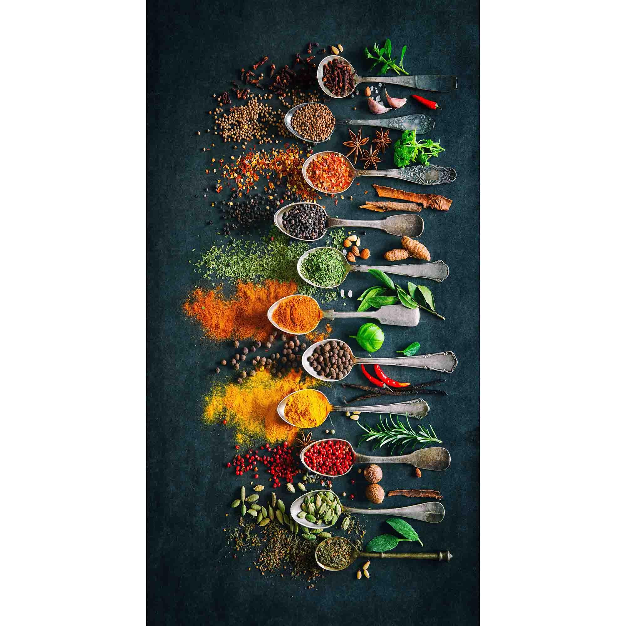 Fotografie Covor cu print digital bucatarie Kring Banyo, 80x150 cm, 60% bumbac + 40% poliester, Albastru inchis