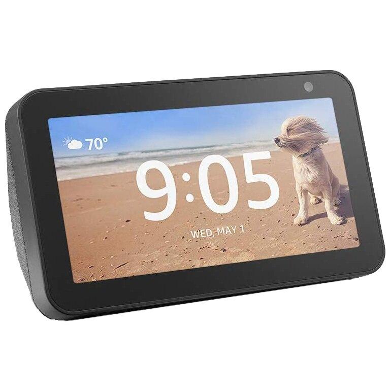 "Fotografie Boxa inteligenta Amazon Echo Show 5, Touchscreen 5.5"", Camera 1MP, 4W, Wi-Fi, Microfon, Negru"