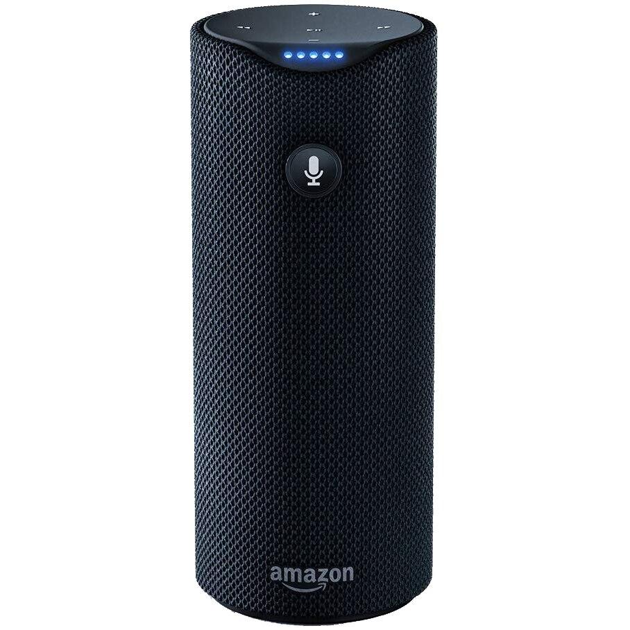 Fotografie Boxa portabila inteligenta Amazon Tap, Asistent vocal, Wi-Fi, Bluetooth, Suport incarcare, Negru