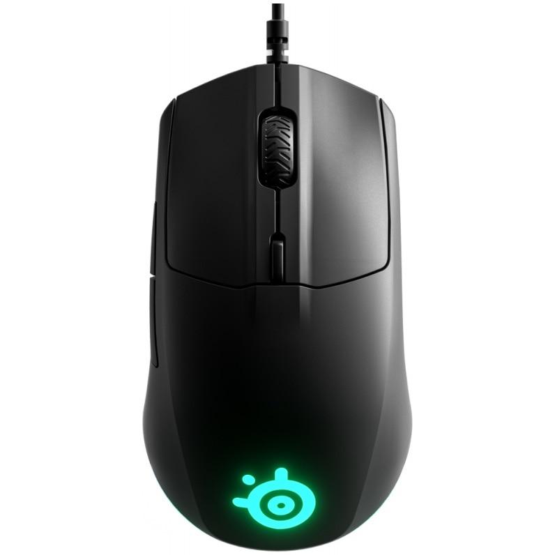 Fotografie Mouse gaming SteelSeries Rival 3, Negru