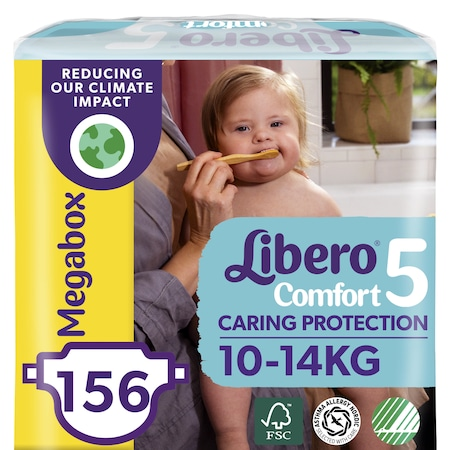 Libero Comfort 5 pelenka, 10-14 kg, Megabox 156 db